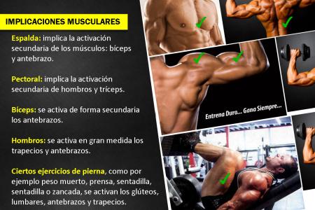implicaciones musculares culturismo